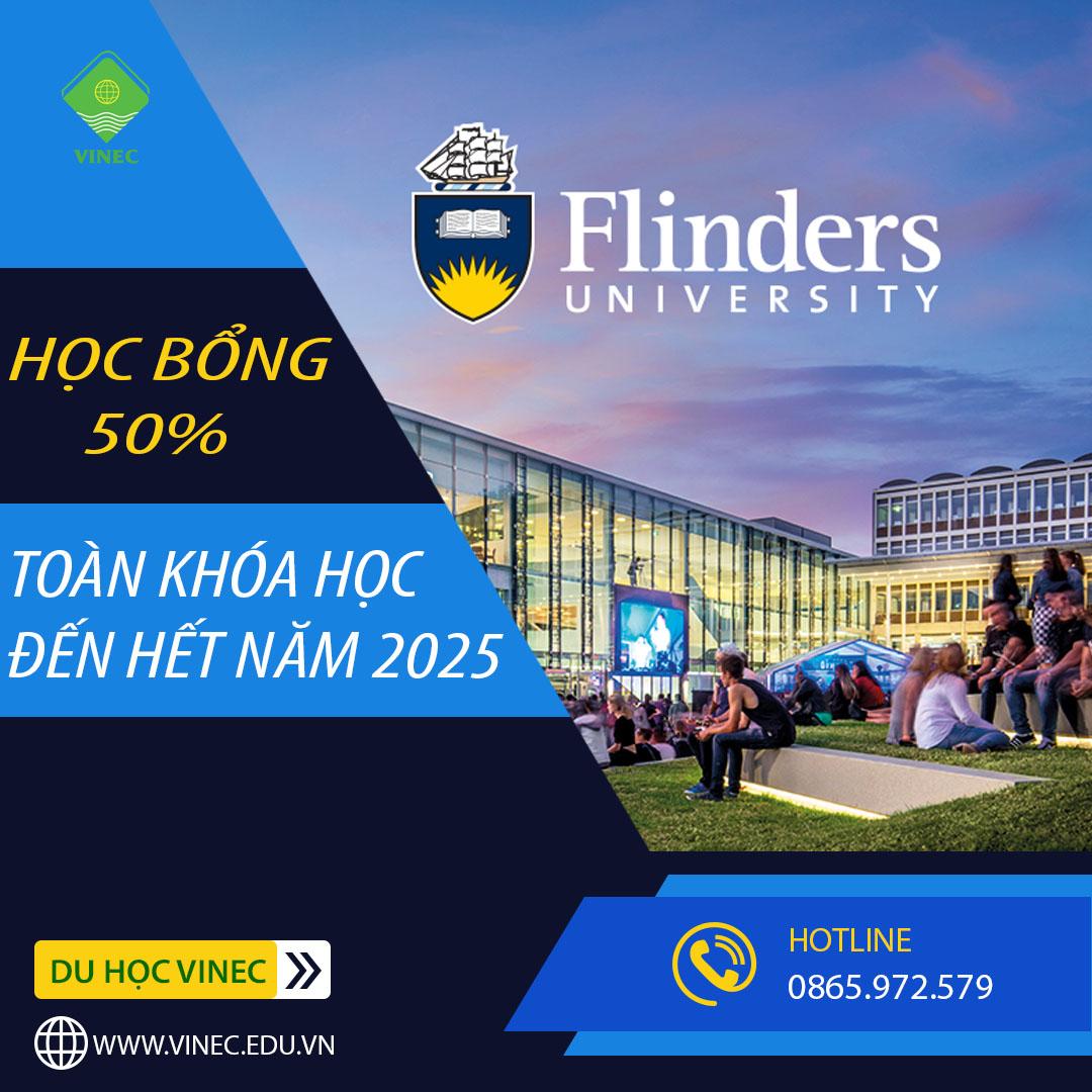 Flinders University - Học bổng lên tới 50% học phí toàn khóa học đến hết năm 2025